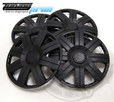 "Hubcap 15"" Inch Wheel Rim Skin Cover 4pcs Set Matte Black -Style 613 15 Inches-"