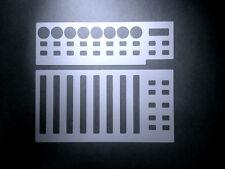 3 Blanko-Overlays für Behringer BCF 2000