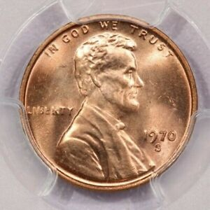 1970-S 1970 Lincoln Memorial Cent PCGS MS65 RD Small Date