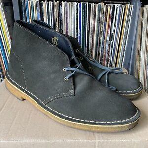 Clarks Originals Suede Desert Boots UK 10.5 Dark Green
