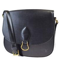 Auth LOUIS VUITTON Saint Cloud GM Shoulder Bag Epi Leather Black M52192 82MC229