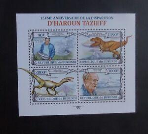Burundi 2013  D'Haroun Tazieff sheetlet Dinosaur MNH UM unmounted mint