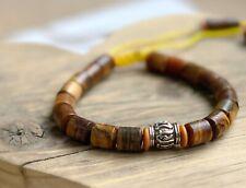 Tibetan Natural Wood Surfer Style Power Bead Bracelet Wrap for Men Women Ladies