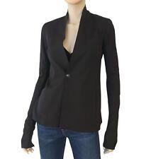RICK OWENS Black Wool Blend Single Button Blazer Jacket 40 US 2