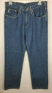 Carhartt Mens Size 34X32 Dark Denim Cotton Relaxed Fit RN 14806 Jeans