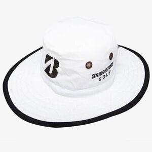 BRIDGESTONE GOLF 2021 MEN'S BOONIE BUCKET HAT SUN CAP SIZE: L/XL WHITE NEW 20869