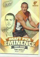2013 AFL SELECT PRIME DRAFT PICK EMINENCE GWS GIANTS TOM SCULLY DPE47 CARD