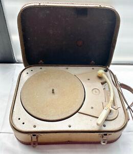 alter tragbarer Plattenspieler * Kofferplattenspieler