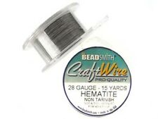15yds hematite grey coloured Beadsmith round craft wire 28ga (0.3mm)