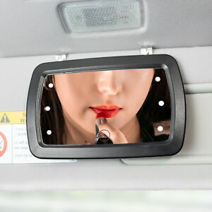 LED LIghted car sun visor vanity mirror clip on universal Make up Sunshade Auto