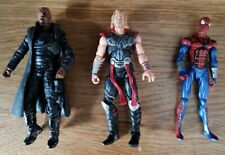 "Marvel Universe 3.75"" Figure lot Nick Fury In Jacket - Thor - Spiderman - Hasbro"