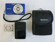 Sony Cyber-Shot DSC-W530 14.1MP Digital Camera - Blue, w/ Accs. Tested