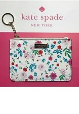NWT Kate Spade Bitsy Gardner Street Greenhouse Cream Zip-Top Coin Purse Keychain