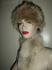 CAPPELLO COLBACCO COLLO SCARF COYOTE HAT HUT PELLICCIA FUR PELZ VOLPE FOX FUCHS