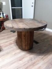 Reclaimed wood tables and spool tables