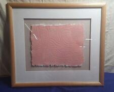 "18"" x 20"" Gallery Framed PAPER MACHE Art INTERESTING"