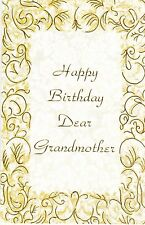 Birthday Card with Envelope for Grandmother