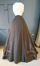 Elegant 1890s / 1900s  Wool Skirt - Victorian / Edwardian Antique Fashion