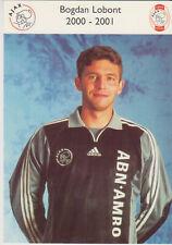 AUTOGRAMMKARTE / AUTOGRAPHCARD 2000-2001 Bogdan Lobont Ajax Amsterdam