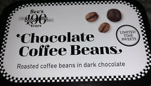 See's Candies Dark Chocolate Coffee Beans 1.8 oz. Great For Dad Or Grad