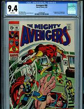 Avengers #66 CGC 9.4 White Pages Marvel 1969 1st adamantium Amricons k23