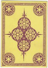 Playing Cards 1 Single Swap Card - Old Wide Square Corner KALEIDOSCOPE yellow
