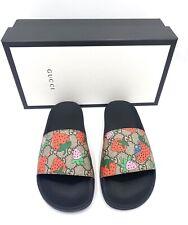 Gucci Women's GG Strawberry slide Sandals size 38 NIB