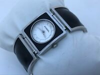 Fossil Women Watch Black/Silver Tone Analog Wrist Watch Water Resistant 5ATM