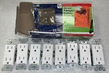 Leviton Decor Tamper Resistant Outlets 15A-125V pack of 8- Short 2 From Original