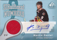 05-06 SP Game Used Martin Havlat 9/9 Auto Jersey SIGnificant Numbers 2005