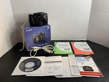 Canon PowerShot SX150 IS 14.1MP Digital Camera - Black~~MINT~~Bundle~~2GB SD~~