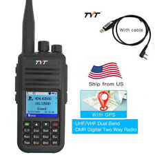 TYT MD-UV380 Dual Band DMR Digital Mobile Radio Walkie Talkie with GPS & Cable