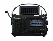 Kaito Voyager Ka500 Solar Radio With Weather Band and LED Flashlight - Black
