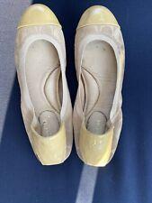 Coach Logo Ballet Flats, Size 38/US 8