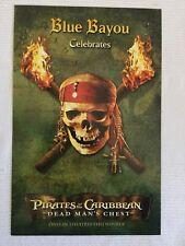 Disneyland BLUE BAYOU MENU Celebrates Pirates of the Caribbean Dead Man's Chest