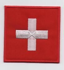 Switzerland Large Flag Iron On / Sew On Patch Badge Appliqué 
