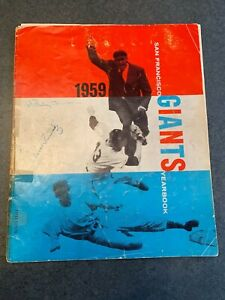 1959 San Francisco Giants Autographed Yearbook WILLIE MAYS, McCovey and more