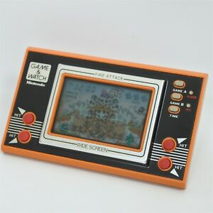 LCD FIRE ATTACK Game Watch ID-29 Wide Screen Tested Nintendo JAPAN 1801