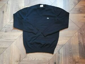 LACOSTE wool,thin mens jumper,black,size-4(S/M-approx)