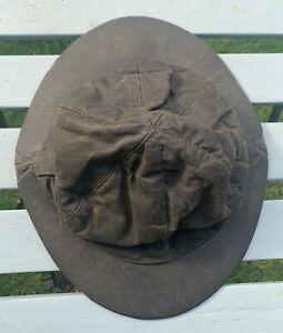 Barbour Hut aus gewachster Baumwolle und faltbar dunkel grün