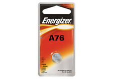 Energizer A76 Alkakine Coin 1.5V Batteries Single Pack A76BPZ LR44 357 Exp: 2019
