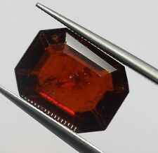 4.60 Ct Natural Hessonite Garnet Loose Deep Brown Color Ceylon No Heat Gem A+