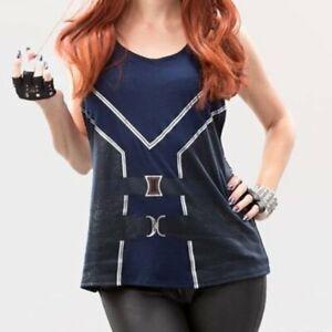 WeLoveFine x Marvel Avengers Black Widow Tie Back Tank Top Age of Ultron Large