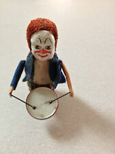Antique 1930's 40's Genuine Schuco Germany Clown Drummer Wind-Up Toy