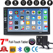 7inch 2DIN Car MP5 Player Bluetooth Touch Screen Stereo Radio HD+Rear Camera CO