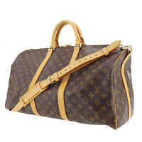 LOUIS VUITTON Keepall Bandouliere 50 Boston Hand Bag Monogram M41416 Auth #PP724