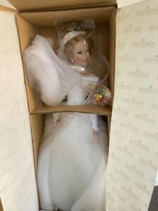 """1996 Ashton Drake 20"""" Bride Porcelain Doll ~ Spring Promise by Sandra Bilotto"""