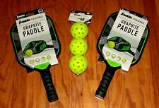 Set of 2 Franklin Pickleball Graphite Paddles-Dagger with (3) X-40 Yellow Balls