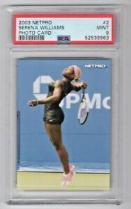 2003 Netpro Tennis Photo Card Serena Williams Rookie RC Card #2 PSA 9