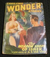 1949 Feb THRILLING WONDER STORIES Pulp Magazine v.33 #3 VG- 3.5 A.E. Van Vogt